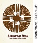 food design over  beige... | Shutterstock .eps vector #181271834