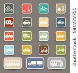 transportation icons | Shutterstock .eps vector #181272755