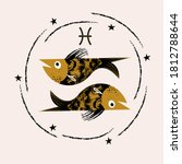 sign of the zodiac pisces.... | Shutterstock .eps vector #1812788644