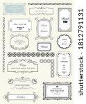 set of ornate frames and...   Shutterstock . vector #1812791131