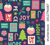 cute christmas elements with...   Shutterstock .eps vector #1812796087