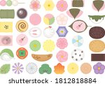a set of traditional japanese...   Shutterstock .eps vector #1812818884