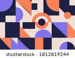 colorful simple geometrical... | Shutterstock .eps vector #1812819244