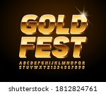 vector event card gold fest.... | Shutterstock .eps vector #1812824761