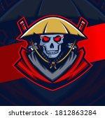 dark samurai skull mascot... | Shutterstock .eps vector #1812863284