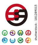 abstract vector round logo... | Shutterstock .eps vector #181289015