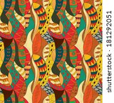 seamless abstract ethnic pattern | Shutterstock .eps vector #181292051