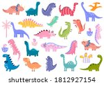Cute Dinosaurs Big Bundle. Dino ...