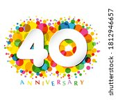 40 th anniversary numbers. 40... | Shutterstock .eps vector #1812946657