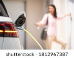 Close Up Of A Electric Car...
