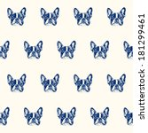 french bulldog seamless pattern   Shutterstock .eps vector #181299461
