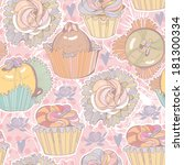 vector seamless pattern with... | Shutterstock .eps vector #181300334