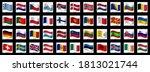 european country flag icon... | Shutterstock .eps vector #1813021744