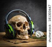 Still Life With Human Skull...