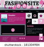 web template for fashion site....   Shutterstock .eps vector #181304984