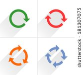 4 color arrow rotation  loop... | Shutterstock .eps vector #181307075