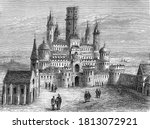 Castle Of Montlhery  Vintage...