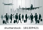 business travelers in the... | Shutterstock .eps vector #181309421