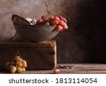 Still Life Ripe Organic Grapes