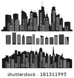 vector cities silhouettes and... | Shutterstock .eps vector #181311995