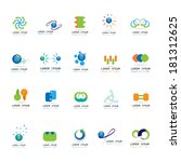 abstract icons set   isolated... | Shutterstock .eps vector #181312625