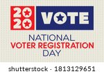 national voter registration day.... | Shutterstock .eps vector #1813129651