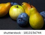 Fruit On A Black Background....