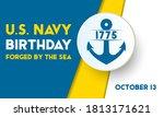 the united states navy birthday ...   Shutterstock .eps vector #1813171621