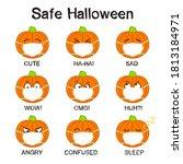 pumpkins emoji icons in a...