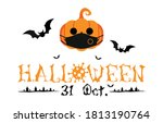 halloween 31 oct greetings... | Shutterstock .eps vector #1813190764
