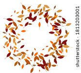 leaves. throw autumn leaves.... | Shutterstock .eps vector #1813203001