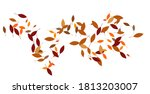 leaves. throw autumn leaves.... | Shutterstock .eps vector #1813203007