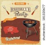 vintage bbq banner   Shutterstock .eps vector #181320677