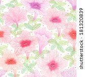 seamless pattern with summer... | Shutterstock .eps vector #181320839