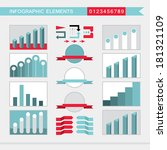 infographic elements  charts ... | Shutterstock .eps vector #181321109
