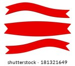 3d render of a set of red... | Shutterstock . vector #181321649