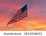 An American Flag In The Wind