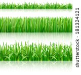grass. vector eps 10. | Shutterstock .eps vector #181324121