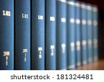 law books in al law office's... | Shutterstock . vector #181324481