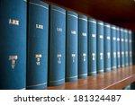 law books in al law office's... | Shutterstock . vector #181324487