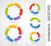 circle arrows set  raster copy    Shutterstock . vector #181327601