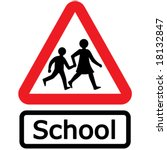 vector school sign design... | Shutterstock .eps vector #18132847