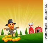The Funny Scarecrow Protects...
