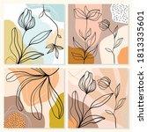 abstract art line backgrounds ... | Shutterstock .eps vector #1813335601