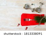 New Year\'s Table Setting Silve...