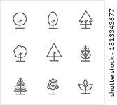 tree vector line icon set....   Shutterstock .eps vector #1813343677