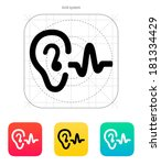 ear hearing sound icon.