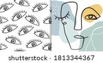 abstract set including seamless ... | Shutterstock .eps vector #1813344367