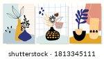 minimalist art line wall art ...   Shutterstock .eps vector #1813345111