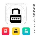 lock with password icon.